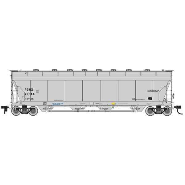 N ACF 4-Bay Center Flow Covered Hopper PGHX #76060