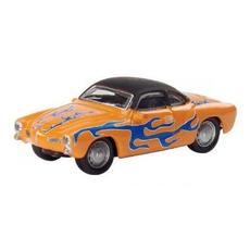 H0 VW Karmann Ghia orange mit blauen Flammen