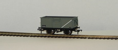 00 16 Ton Steel Mineral Wagon BR grey with Top Flat Doors