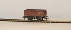 00 16 Ton Steel Mineral Wagon BR weathered bauxite with Top Flat