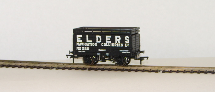 "00 7 Plank Wagon with Coke Rails ""Elders Navigation Collieries\"""