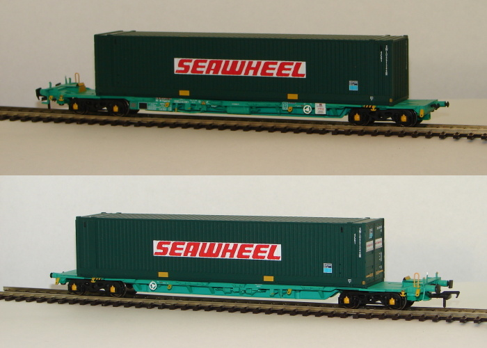 "00 Intermodal Bogie Wagon with two 45ft Containers ""Seawheel\"""
