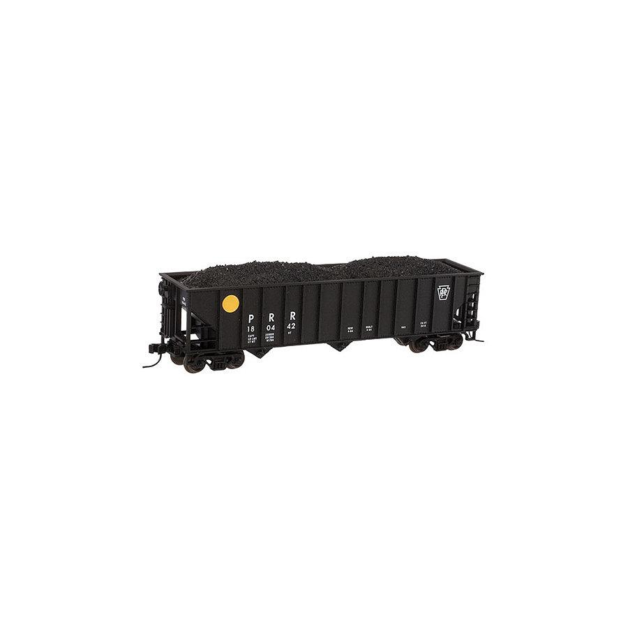 N 90-Ton 3-Bay Hopper with Load PRR #180566
