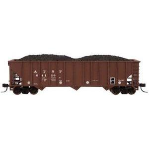 N 90-Ton 3-Bay Hopper with Load ATSF #81042