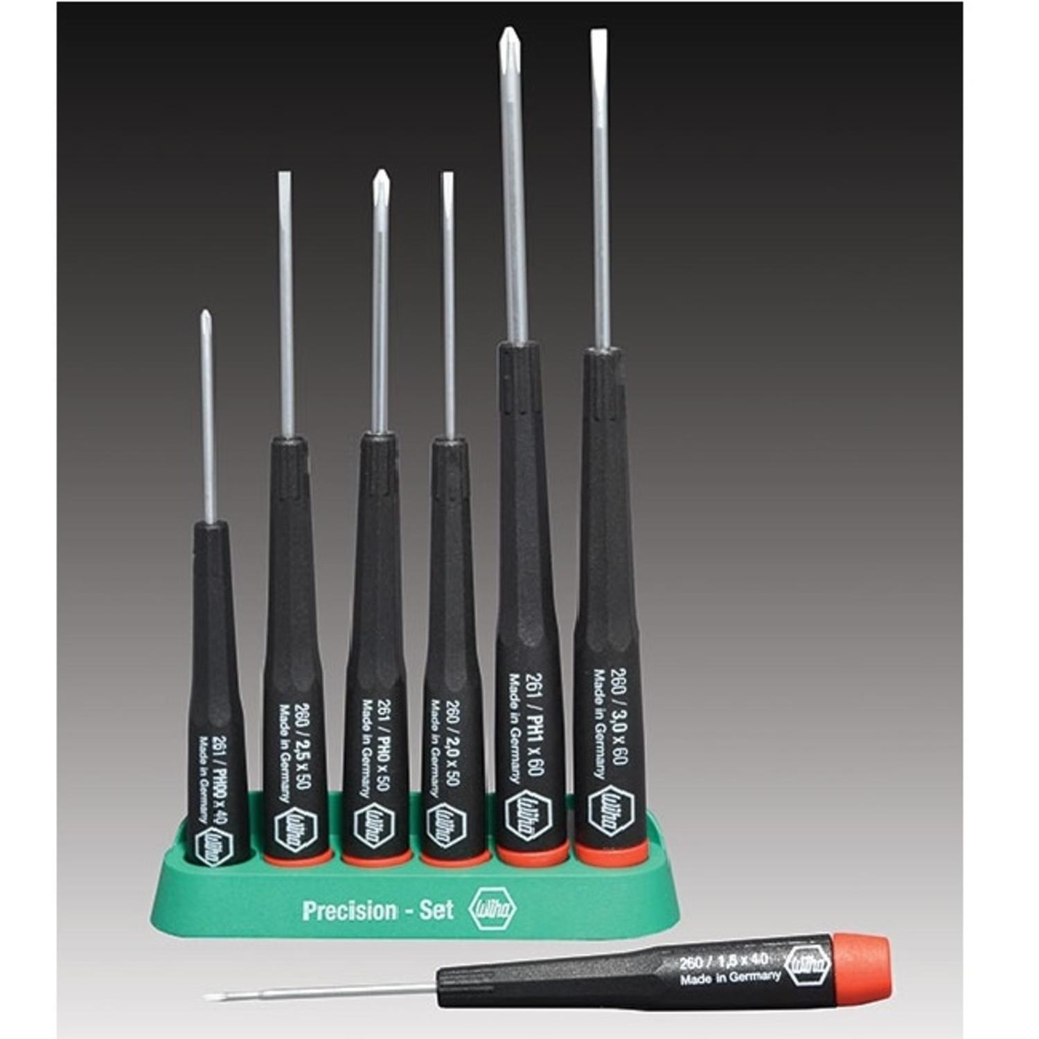 7-piece Precision Screwdriver Set with Stand
