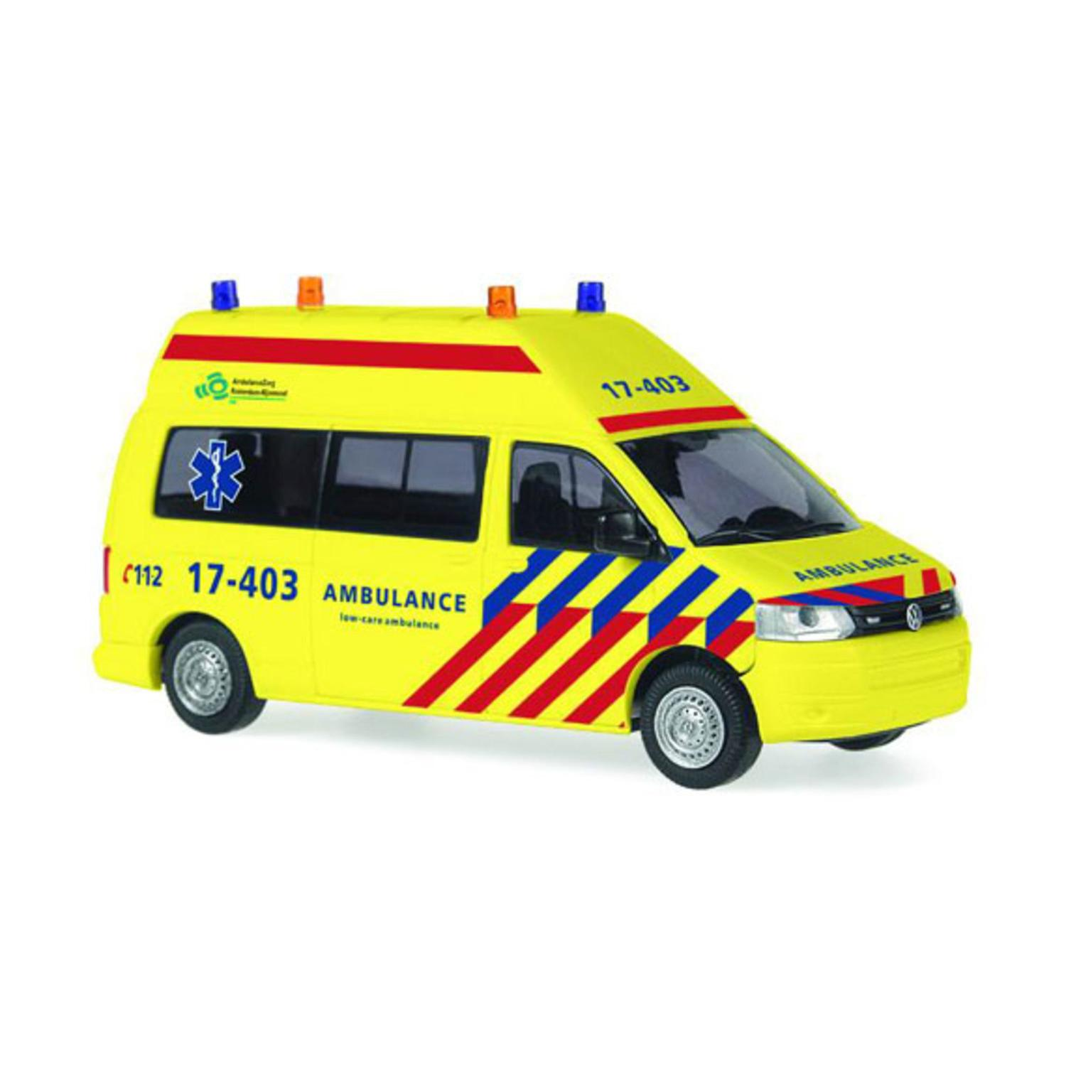"H0 ""VW T5 GP \""\""Ambulance Rotterdam\"""