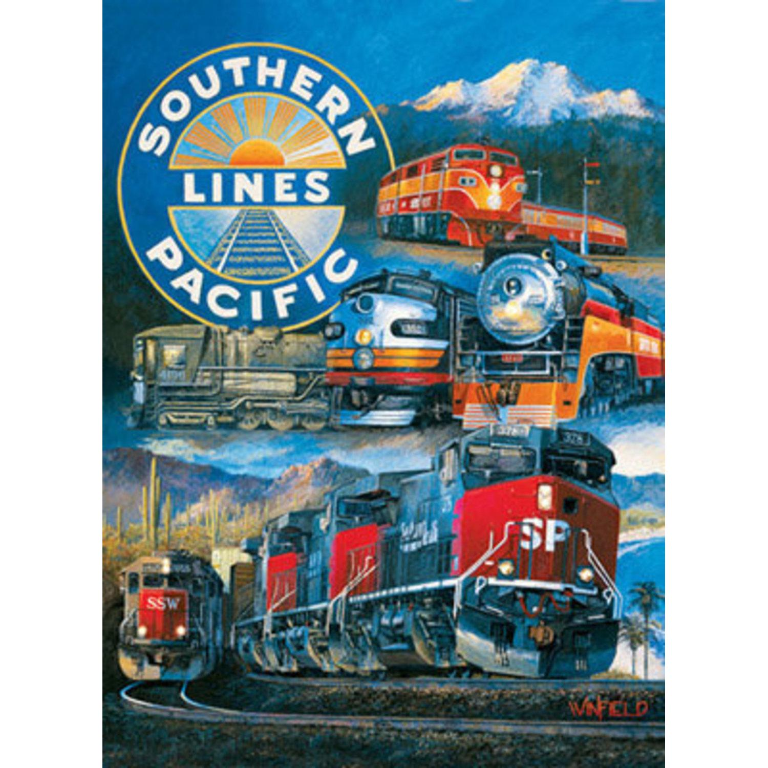 Puzzle - 1500 Teile - Southern Pacific Rail Road