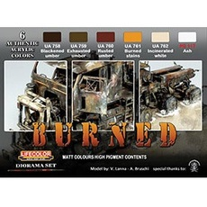 Acrylic Paint Set - Lifecolor(R) -- Dust & Rust Weathering Set