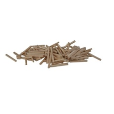 H0 Ties Natural Wood Color pkg(100)