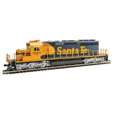 H0 EMD SD40-2 Mid-Production - Standard DC -- Santa Fe #5072 (Warbonnet; blue, yellow)