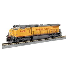 H0 GE C44-9W - DCC -- Union Pacific 9660 (Armour Yellow, gray, red)