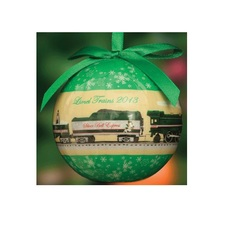 "Christbaumkugel; Lionel Silver Bell Express Christmas Ornament -- 3"" 7.6cm Diameter"