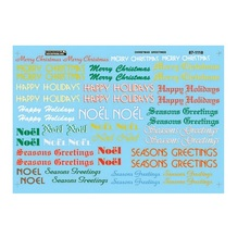 H0 Railroad Decal Set -- Christmas Train Graphics Holiday Greetings