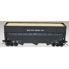 H0 70-Ton 3-Bay Offset-Side Woodchip Hopper w/Ribbed Extensions