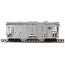 H0 70-Ton 2-Bay Open-Side Covered Hopper - Kit -- Delaware & Hud