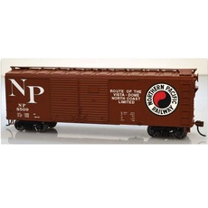 H0 40\' Double-Door Boxcar - Kit -- Northern Pacific #8506