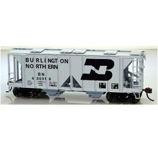 H0 70-Ton Covered Hopper w/Open Sides - Kit -- Burlington Northe