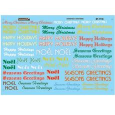 H0 Decal Christmas Train Graphics Holiday Greetings