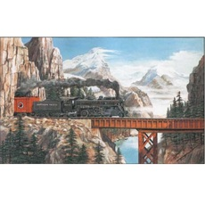 Summit Pass Train Puzzle -- 550 Pieces