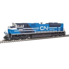 H0 EMD SD70ACe - ESU(R) Sound and DCC -- Canadian National #8101 (Ex-EMD Demo; blue, gray, white)