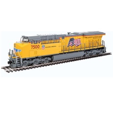 H0 GE Evolution Series GEVO - ESU(R) Sound and DCC -- Union Pacific(R) ES44AH 7500 (Armour Yellow, gray, red)