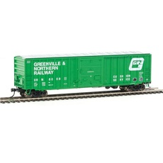 H0 50\' ACF Exterior-Post Boxcar - Ready to Run -- Greenville & N