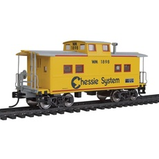 H0 NE-Style Center Cupola Caboose - Ready to Run -- Chessie/West
