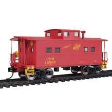 H0 NE-Style Center Cupola Caboose - Ready to Run -- Chicago & No
