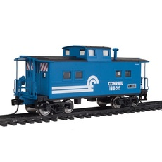H0  NE-Style Center Cupola Caboose - Ready to Run -- Conrail #18