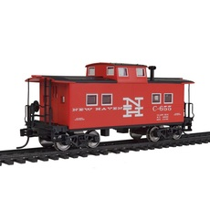H0 NE-Style Center Cupola Caboose - Ready to Run -- New Haven #6