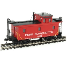 H0 DM&IR Class G2 Wood Caboose - Ready to Run -- Pere Marquette