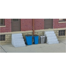 H0 Vintage Garbage Cans & Recycling Bins -- Kit (20)