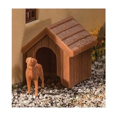 H0 Dog & Kennel (Doghouse) -- Kit