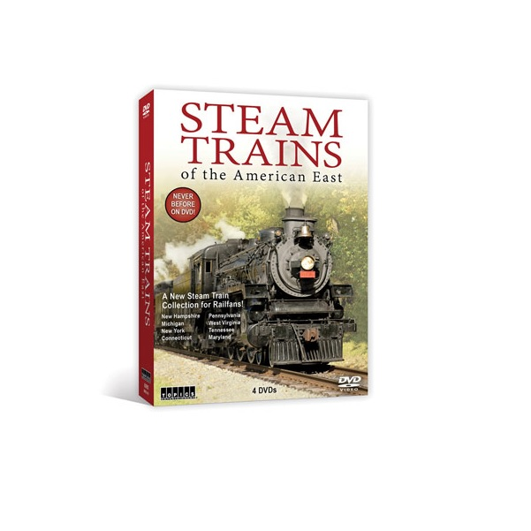 DVD Steam Trains of the American East -- 4 Films in a 4 Disc Set