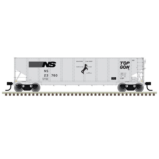 """N G-86R TopGon - Ready to Run -- Norfolk Southern #23760 (gray,"