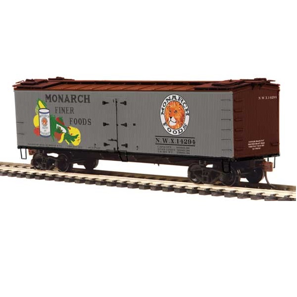 H0 R40-2 Wood Reefer - Ready to Run -- Monarch 14294