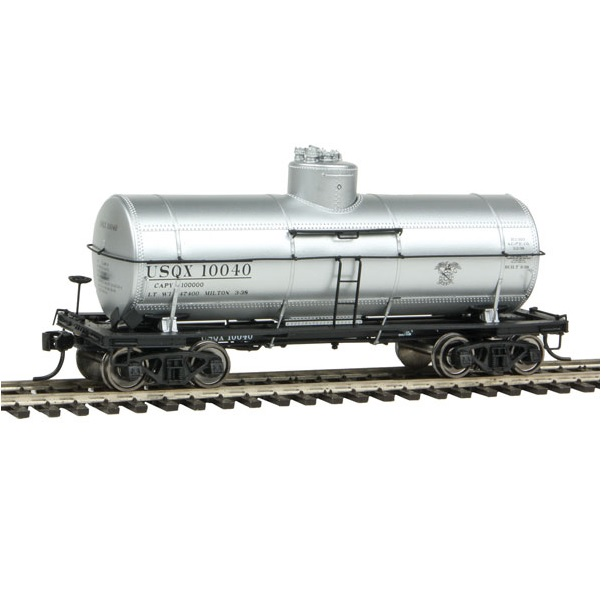 H0 Type 21 ACF 10,000-Gallon Tank Car - Ready To Run -- War Department Quartermaster Corps USQX #10040