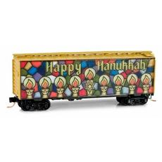 N 40\' Single-Door Boxcar Happy Hanukkah